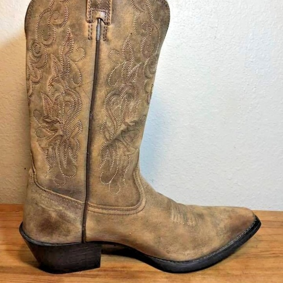 fefc080872d Ariat 15729 Tan Western Cowboy Boots Womens Size 7